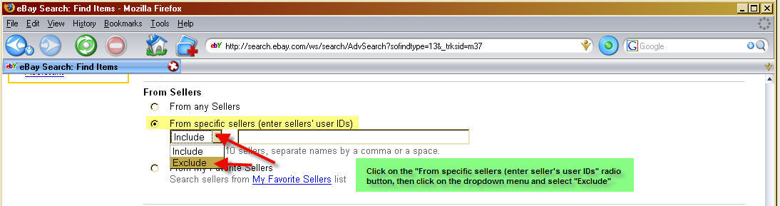 How To Exclude Ebay Sellers From A Saved Search
